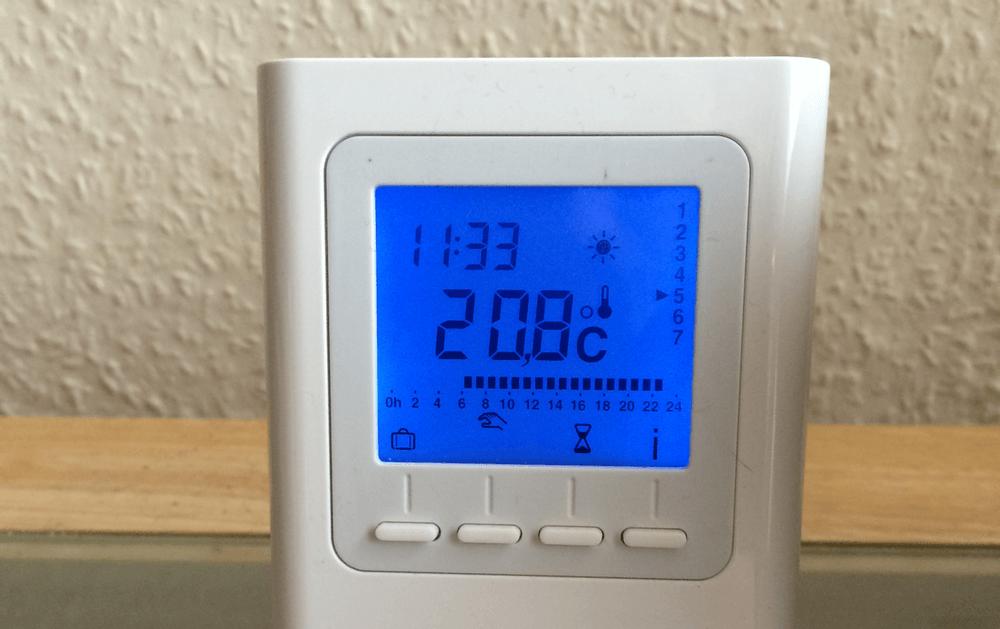Inbetriebnahme Thermostat