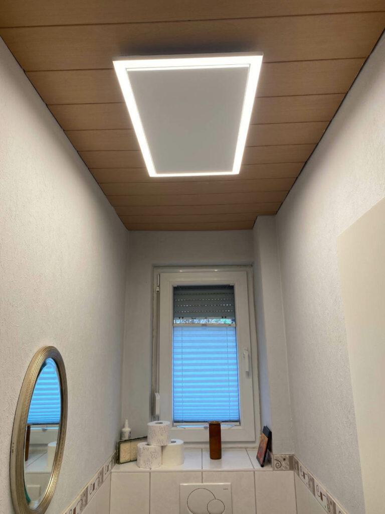 Infrarotheizung als Deckenheizung mit Licht   LED Beleuchtung ...