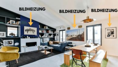 Schöne flache moderne und dekorative Design-Heizkörper, die zum Einrichtungskonzept passen