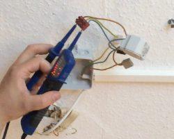 Strommessung bei der Installation einer Infrarotheizung