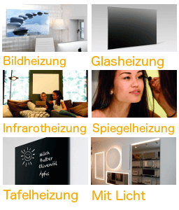 infrarotheizung als deckenheizung mit licht led. Black Bedroom Furniture Sets. Home Design Ideas