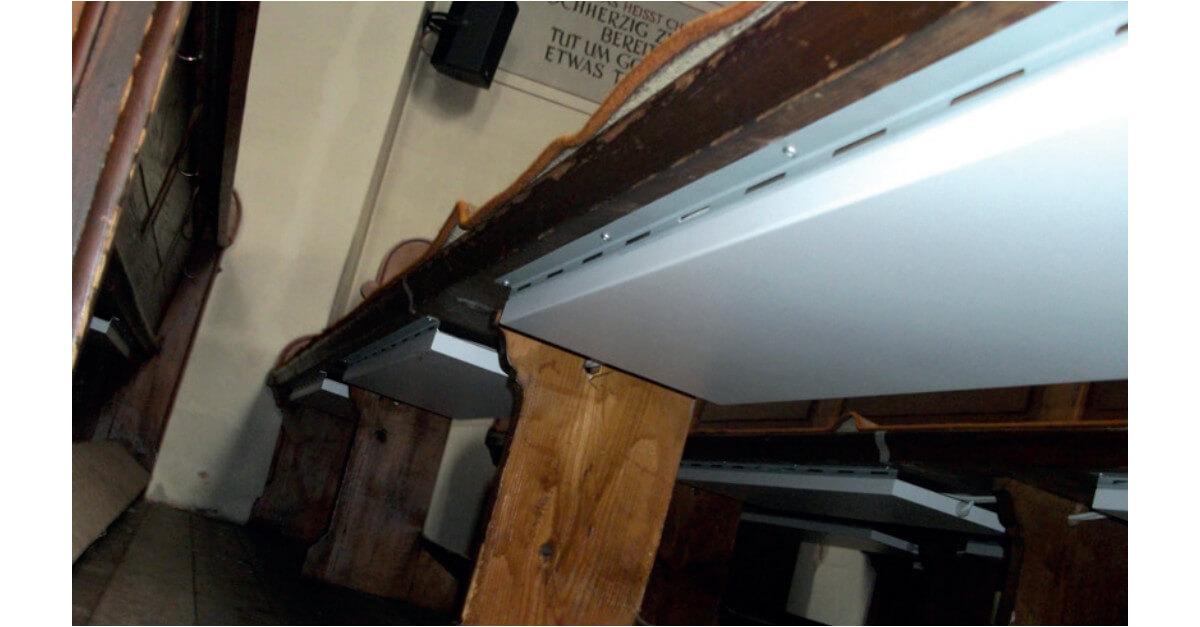 sitzbankheizung f r kirche warter ume heizung unter der bank. Black Bedroom Furniture Sets. Home Design Ideas